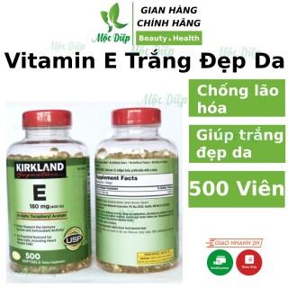 Viên uống trắng da Vitamin e 400 iu Kirkland hộp 500 viên của Mỹ dưỡng trắng sáng da, chống lão hóa, mọc tóc làm khỏe tóc hơn Mộc Diệp Cosmetic thumbnail