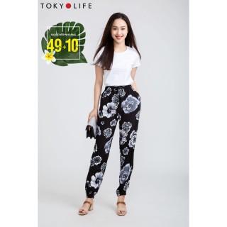 Quần lanh nữ TOKYOLIFE dài chun gấu E5 C929-004C thumbnail