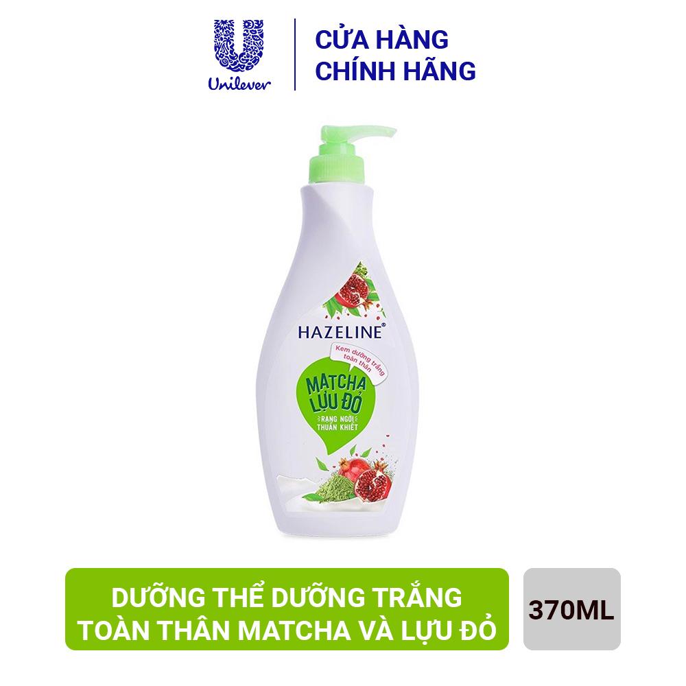 Sữa Dưỡng Thể Hazeline cho da sáng mịn rạng ngời Matcha & Lựu Đỏ chiết xuất từ thiên nhiên lành tính cho da 370ml