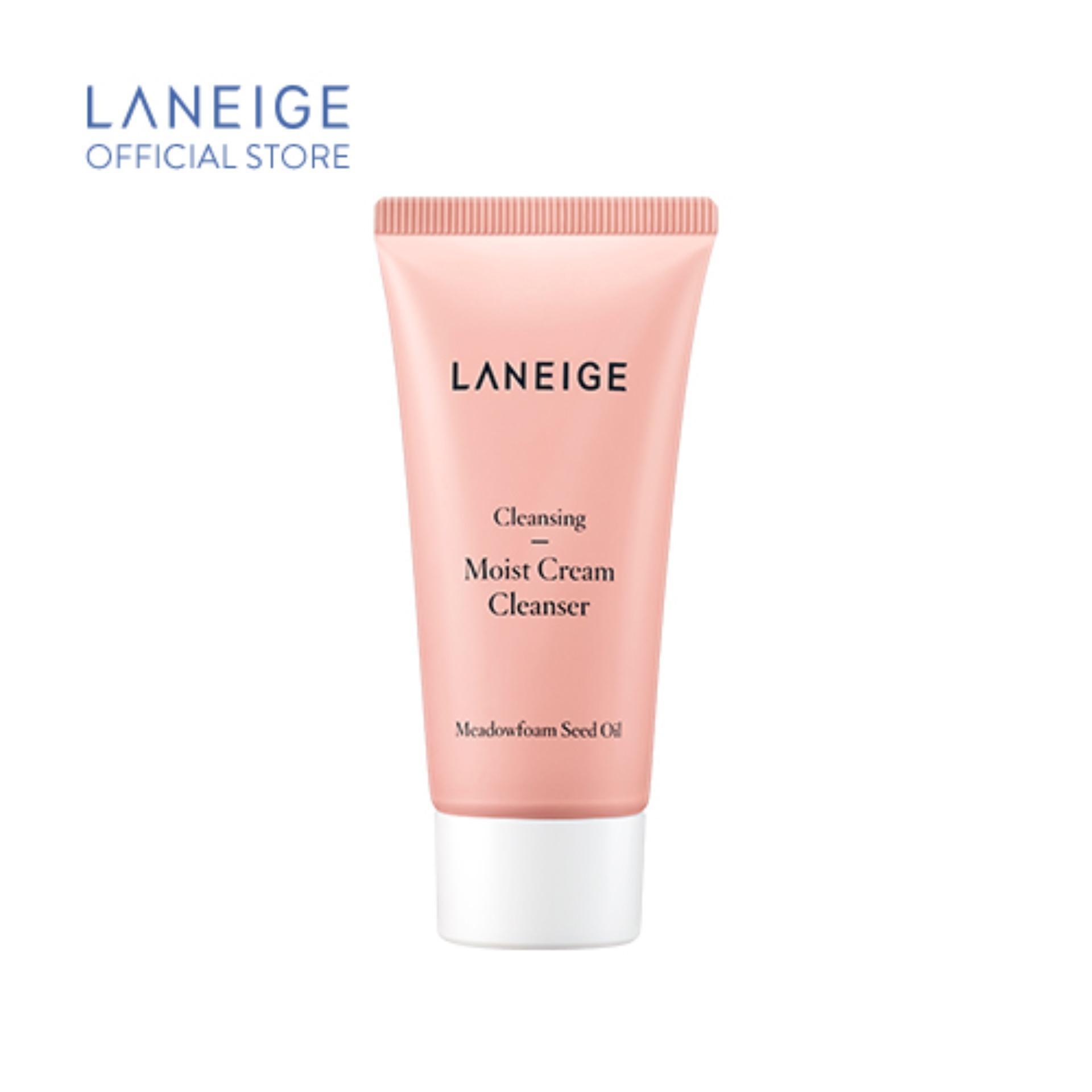 [Hàng tặng không bán] Sữa rửa mặt giúp dưỡng ẩm cho da thường và da khô Laneige Moist Cream Cleanser 30Ml nhập khẩu