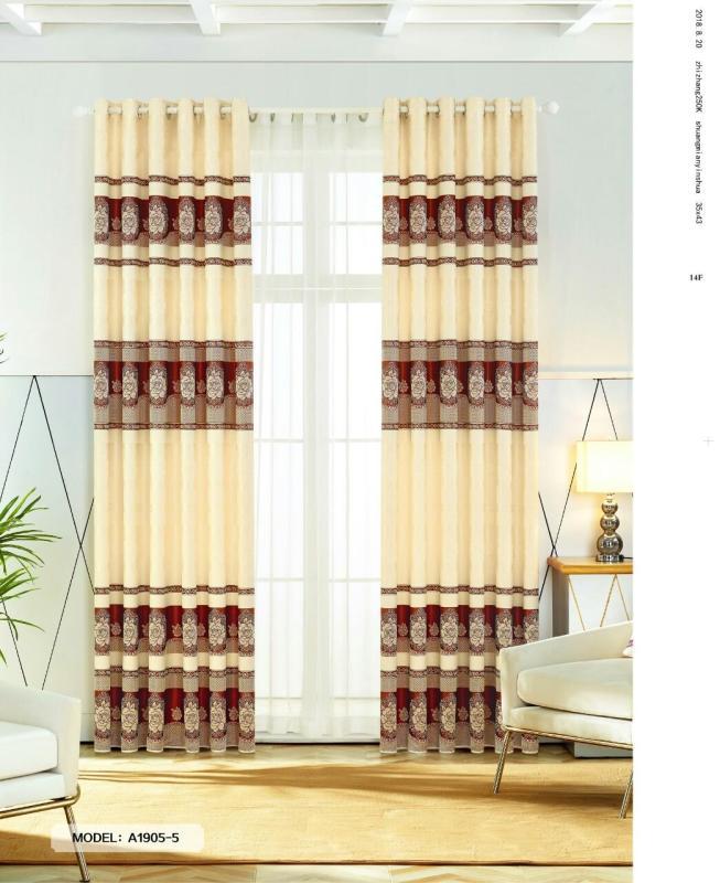 Màn Rèm Cửa Chính - Rèm Cửa Sổ - Vải Gấm HQ - Vải dày rủ đẹp - Kiểu Khoen Ore - Mẫu 1905-5 - Tuỳ chọn kích thước từ 150cm đến 500cm (Đỏ)