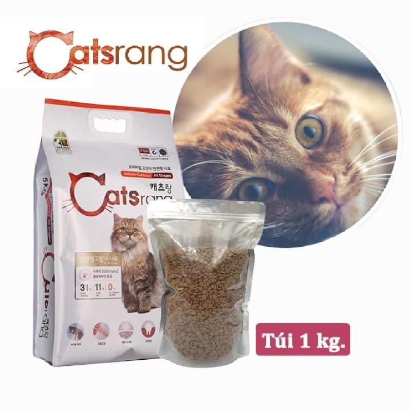 Túi Chiết 1kg Hạt CATSRANG Hàn Quốc, Thức Ăn Khô Cho Mèo Con Và Mèo Lớn