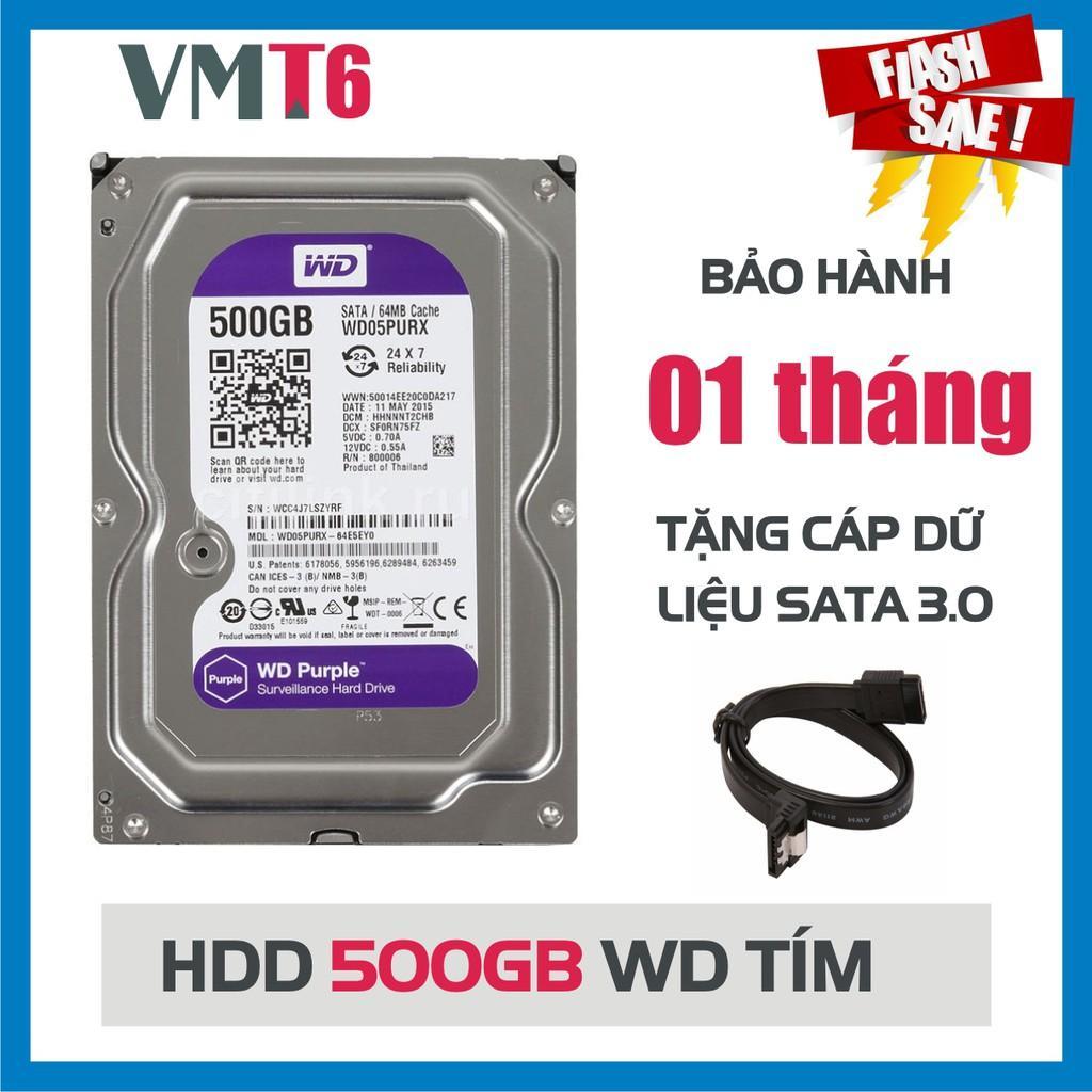 Giá Ổ cứng camera HDD tím 500GB  - Hàng nhập khẩu bảo hành 01 tháng !