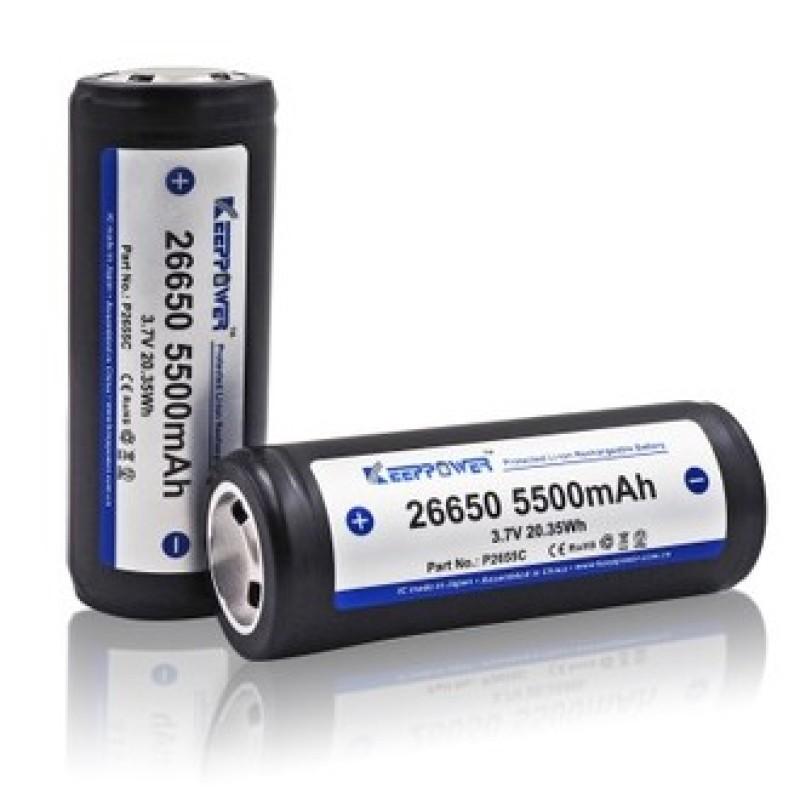 [P26] Pin Keeppower 26650 5500mAh 3.7v ICR26650 - Có mạch bảo vệ