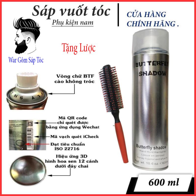 TL(600mL) Gôm Xịt Tóc Nam BUTTERFLY SHADOW 600ml  R chuẩn salon loại 1 (tặng lược) giá rẻ