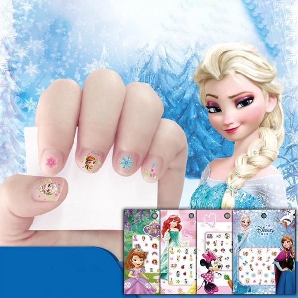 Set 10 Miếng dán trang trí móng tay 3D không thấm nước cho bé gái