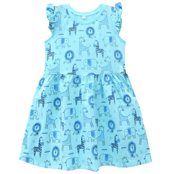 Nơi bán Đầm bé gái tay cánh tiên in tràn thân 11-22 kg MEEJENA - 100% COTTON 4C - 1485
