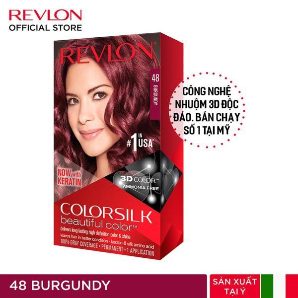 Nhuộm tóc thời trang thương hiệu số 1 tại Mỹ Revlon Colorsilk 3D Keratin cho tóc bóng mượt và óng ánh 120ml nhập khẩu