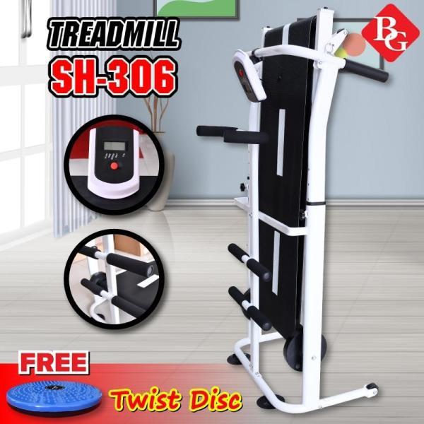 BG - Máy chạy bộ cơ 5 in 1 model SH-S306 Treadmill 2020 đa năng thích hợp cho cả người lớn và trẻ nhỏ tặng đĩa xoay eo cao cấp 360 độ