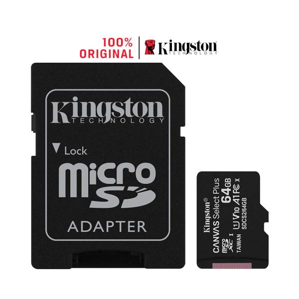 Thẻ nhớ MicroSDXC Kingston Canvas Select Plus 64GB Class 10 U1 SDCS2/64GB