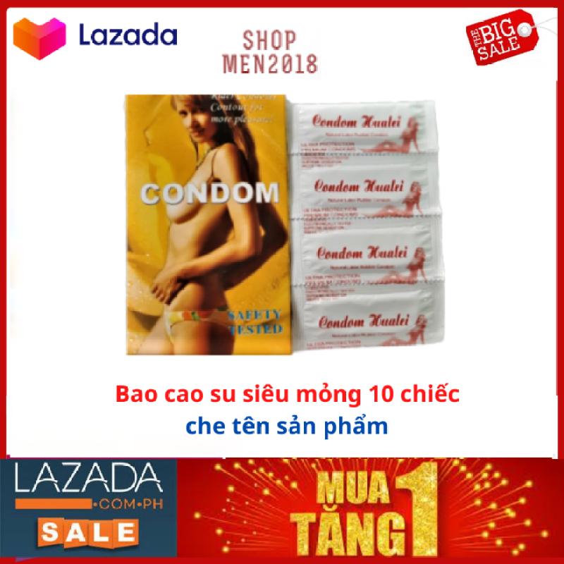 10 bao cao su trơn Condom kéo dài thời gian quan hệ HSD 2025 ( che tên sản phẩm)