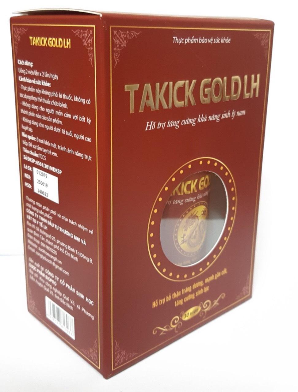 TAKICK GOLD LH ( Hộp 30 viên ) Hỗ trợ chức năng sinh lý nam chính hãng