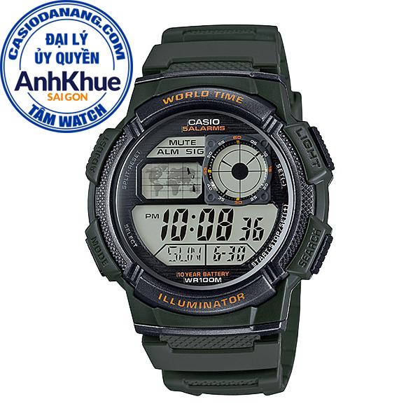 Đồng hồ nam dây nhựa Casio Standard chính hãng Anh Khuê AE-1000W-3AVDF (43mm)