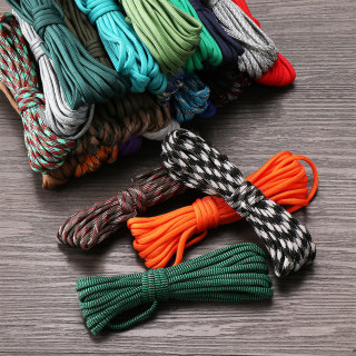 FEAT 1PC High quality 5 meters length Hiking Camping Equipment Outdoor Tool Survival kit Paracord Cord Rope Parachute Cord Lanyard Tent Ropes thumbnail
