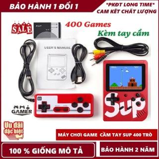 Máy chơi game cầm tay Máy chơi game 4 nút 400 trò chơi - kèm cáp kết nối cho TV - Pin rời dễ tháo lắp thumbnail