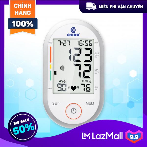 Nơi bán Máy đo huyết áp bắp tay cảm ứng Chido 2020, dễ dàng sử dụng với các phím cảm ứng hiện đại, tự động ghi nhớ kết quả đo và so sánh kết quả