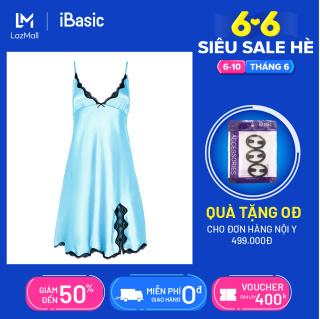 [Bán chạy]- Đầm ngủ lụa satin xẻ đùi quyến rũ iBasic SW010 thumbnail
