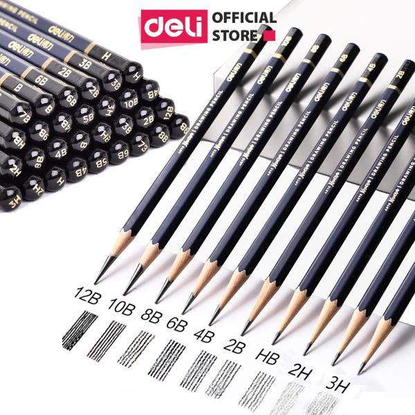 Bút chì cao cấp Deli Nuevo S999Từ HB đến 14B - 12 chiếc/Hộp - S999