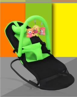 Ghế nằm cho trẻ, Ghế rung có treo gấu chất lượng cao, khung ghế chắc chắn dẻo dai, lớp vải thoáng mát, thanh ngang treo đồ chơi tăng khả năng hoạt bát năng động cho trẻ, bảo hành 1 đổi 1 uy tín . thumbnail