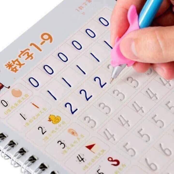Mua Bộ tập viết căn bản - Tập Tô Cho Bé 3 Phần : Viết chữ cái, viết số, Tô hình - Mực tự bay màu dùng MÃI MÃI