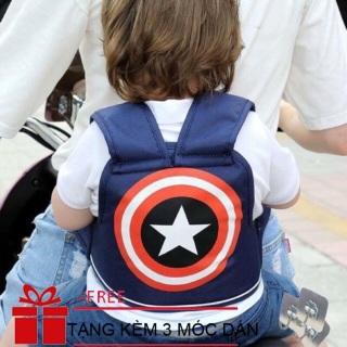 [ TẶNG 3 MÓC DÁN ] Đai đi xe máy cho bé từ 1-5 tuổi, địu ngồi xe máy cho bé chống ngã, đai ngồi xe máy đeo vai, thắt lưng, đai ngực thumbnail