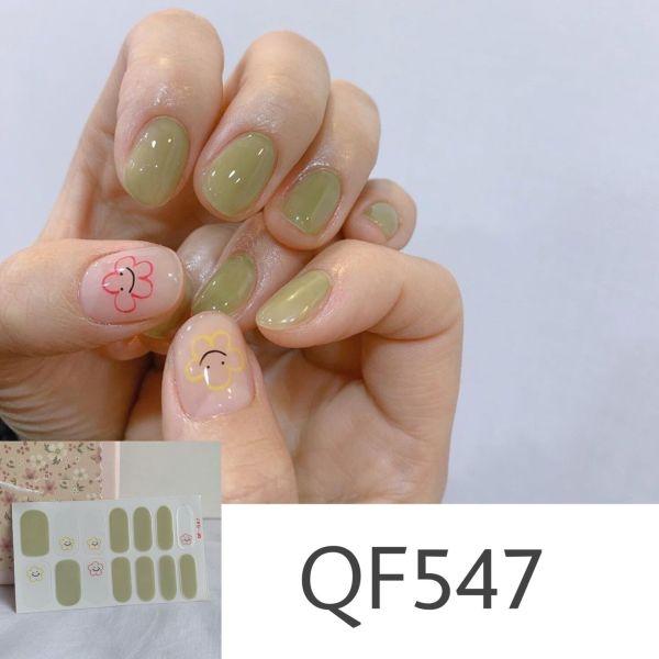 Bộ dán móng tay nail sticker gồm 14 móng - UniLabel giá rẻ