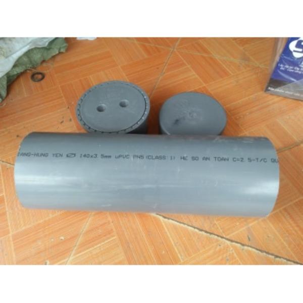 Combo 1 bịt xả 140, 1 bịt trơn và 40cm ống 140mm