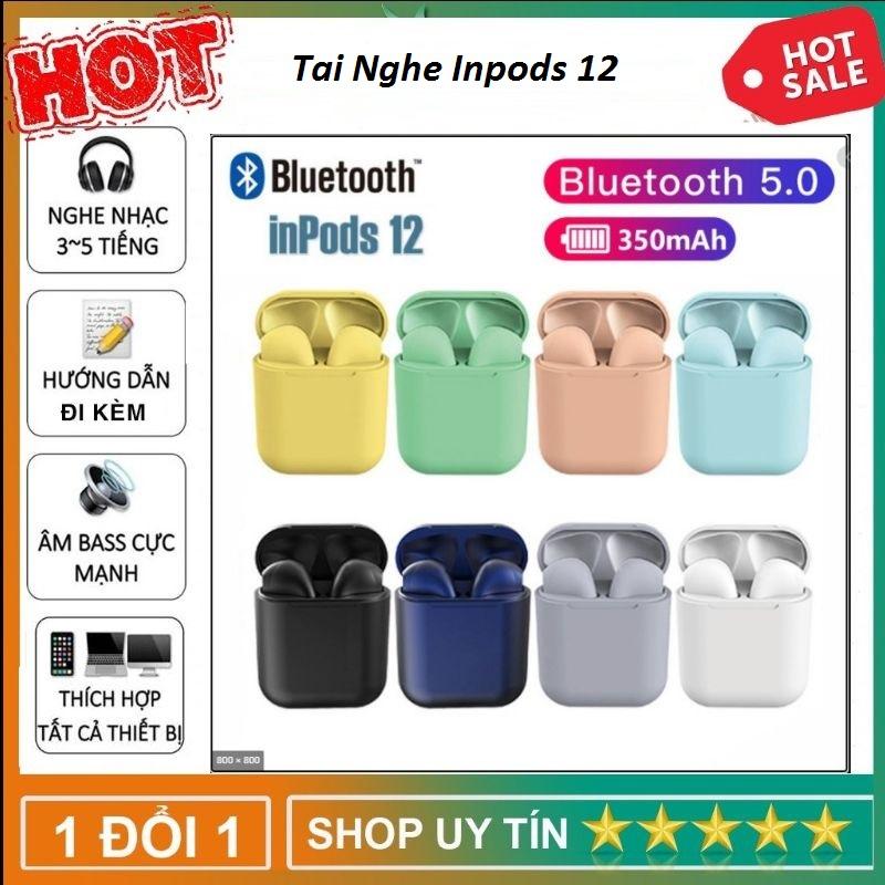 Tai Nghe Bluetooth i12 INPODS TWS - Có Cảm Ứng Vân Tay - Tai Nghe Bluetooth 5.0 Âm Thanh Cực Chất - Chức Năng Giảm Tạp Âm - Tai Nghe I12 INPODS Bản Nâng Cấp Của I12 - Tai Nghe Tự Động Kết Nối - Tai Nghe Tích Hợp Với Các Dòng Smart phone