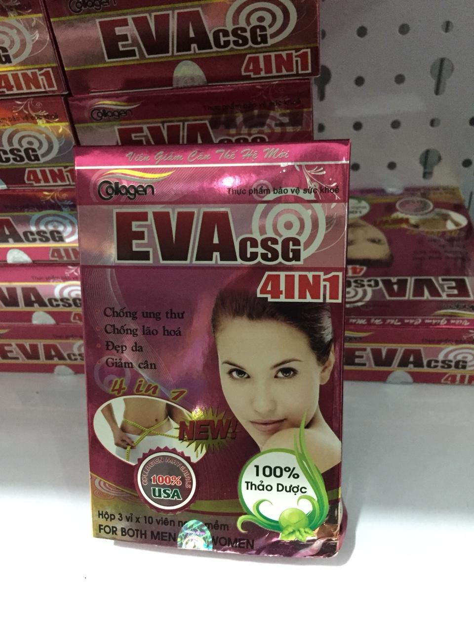 Giảm cân Collagen Eva 4in1 - Hộp 30 viên