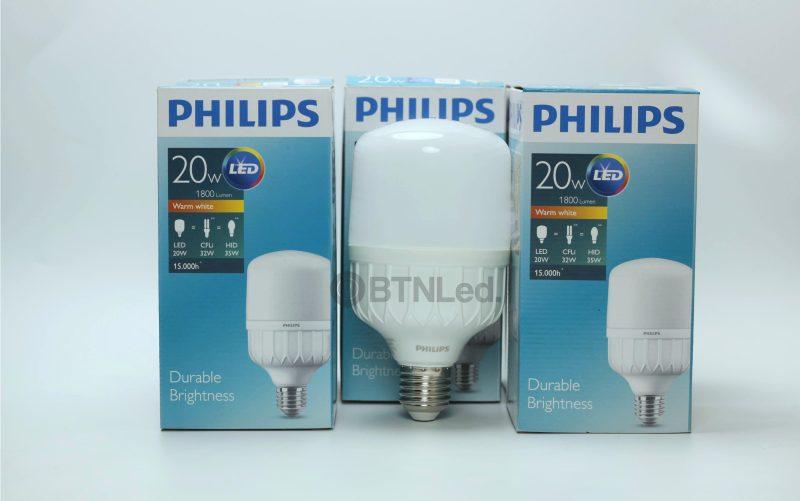 Bóng PHILIPS LED Bulb trụ 20W E27 - [HÀNG CHÍNH HÃNG] - Tiết kiệm điện, chất lượng ánh sáng cao