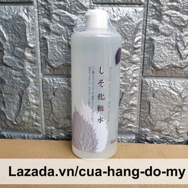 Nước hoa hồng lá tía tô Perilla Natural Skin Lotion 500ml Nhật Bản cao cấp