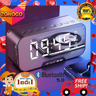 FLASH SALE Loa bluetooth mini G5, Loa bluetooth mini giá rẻ, Loa bluetooth kèm đồng hồ Amoi g5, nhiệt độ, chức năng đàm thoại, loa âm thanh siêu hay, bass trầm ấm, Có thể làm gương soi tương thích với mọi hệ điều hành thumbnail