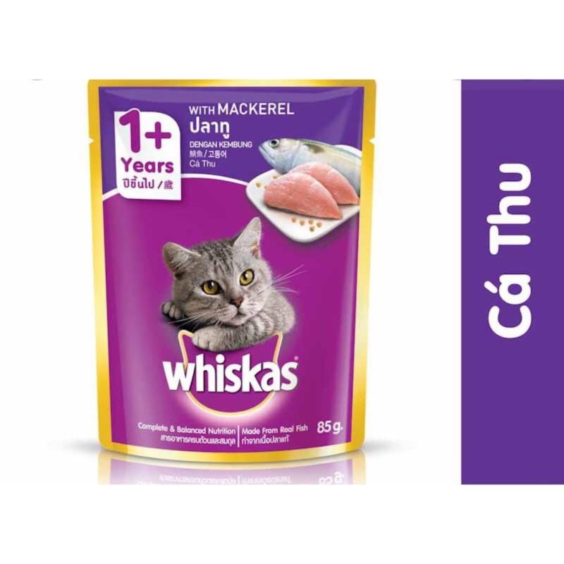Pate mèo - pate Whiskas đủ vị - 85g/gói