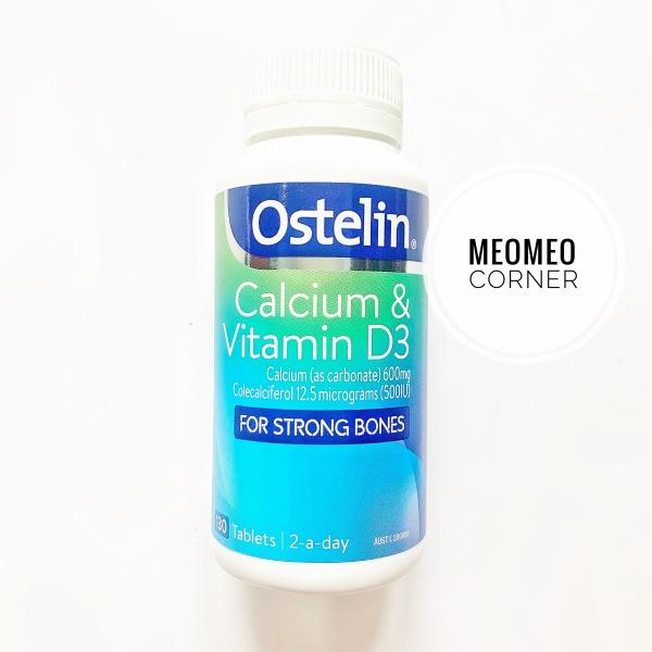 Ostelin Canxi và Vitamin D3 Úc cho bà bầu người lớn trẻ em từ 12 tuổi Ostelin Calcium & Vitamin D3(130 viên)