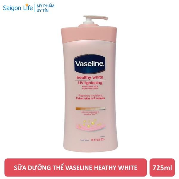 Sữa Dưỡng Thể Vaseline Heathy White Cân Bằng Độ Ẩm, Mịn Và Sáng Da 725ml giá rẻ