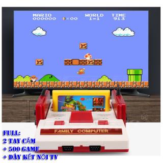 (TẶNG 2 TAY CẦM CHƠI GAME+ ĐĨA 500 GAME)Máy chơi game 4 nút FamilyComputer,trò chơi điện từ, ps3,ps4,playstasion-Bảo Hành 6 tháng-Mới nhất 2020 thumbnail