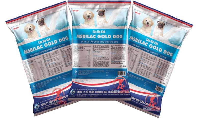 Sữa cao cấp cho chó Msbilac Gold Dog 100g