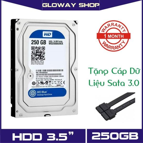 Giá Ổ cứng HDD WD Blue 250GB bảo hành 6 tháng -Tặng kèm cáp Sata!