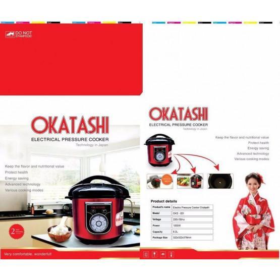 Nồi Áp Suất Điện Đa Năng OKATASHI 6Lít CAO CẤP