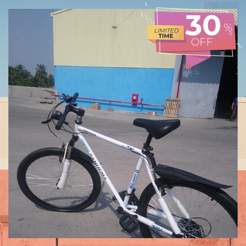 Mua Xe đạp địa hình M`S Power phanh đĩa - Màu trắng - Hàng thanh lý
