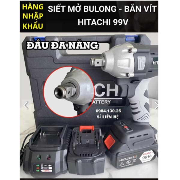 Máy Siết Bulong Hitaci 99v 2pin - Bắn Bu lông Không Chổi Than tặng 1 đầu khẩu- Máy Vặn ốc - Bắt Vít - Khoan Búa - BULONG