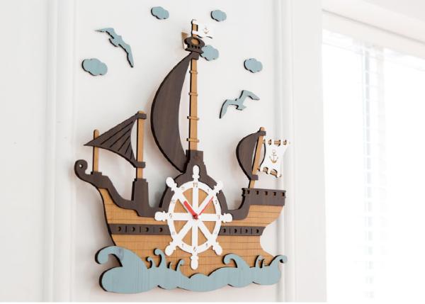 Nơi bán [ Hàng mới] Đồng hồ treo tường, đồng hồ treo tường trang trí nhà cửa im lặng du lịch biển P00000ES