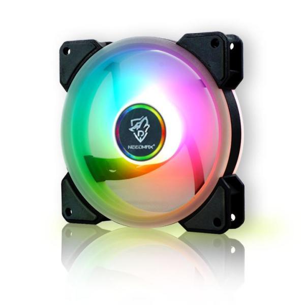 Giá (xã kho 3 ngày ) Fan led RGB Needmax Tặng kèm ốc vít (sản phẩm chưa kèm hub và remote) fan case 12 cm needmax