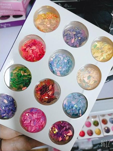 Sét hạt gạo trang trí móng 12 màu giá rẻ