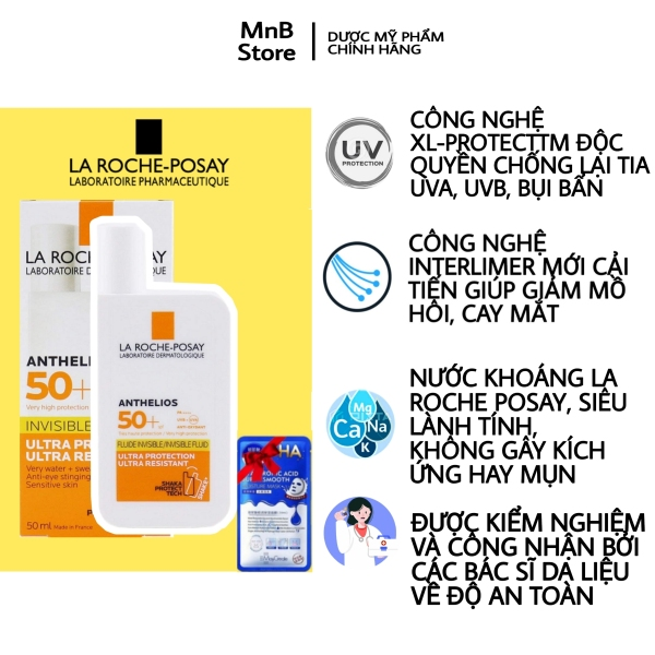 Kem chống nắng La Roche Posay Anthelios Fluid Invisible SPF50+ 50ml