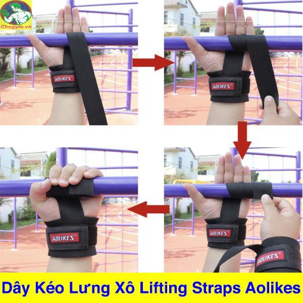 Dây Kéo Lưng Lifting Straps Tập GYM Aolikes 1 Đôi