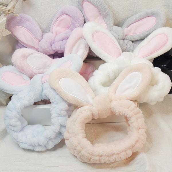 [TẶNG THUN CỘT TÓC] Băng Đô Nhung 3D Tai Thỏ Dễ Thương Nhiều Màu Sắc