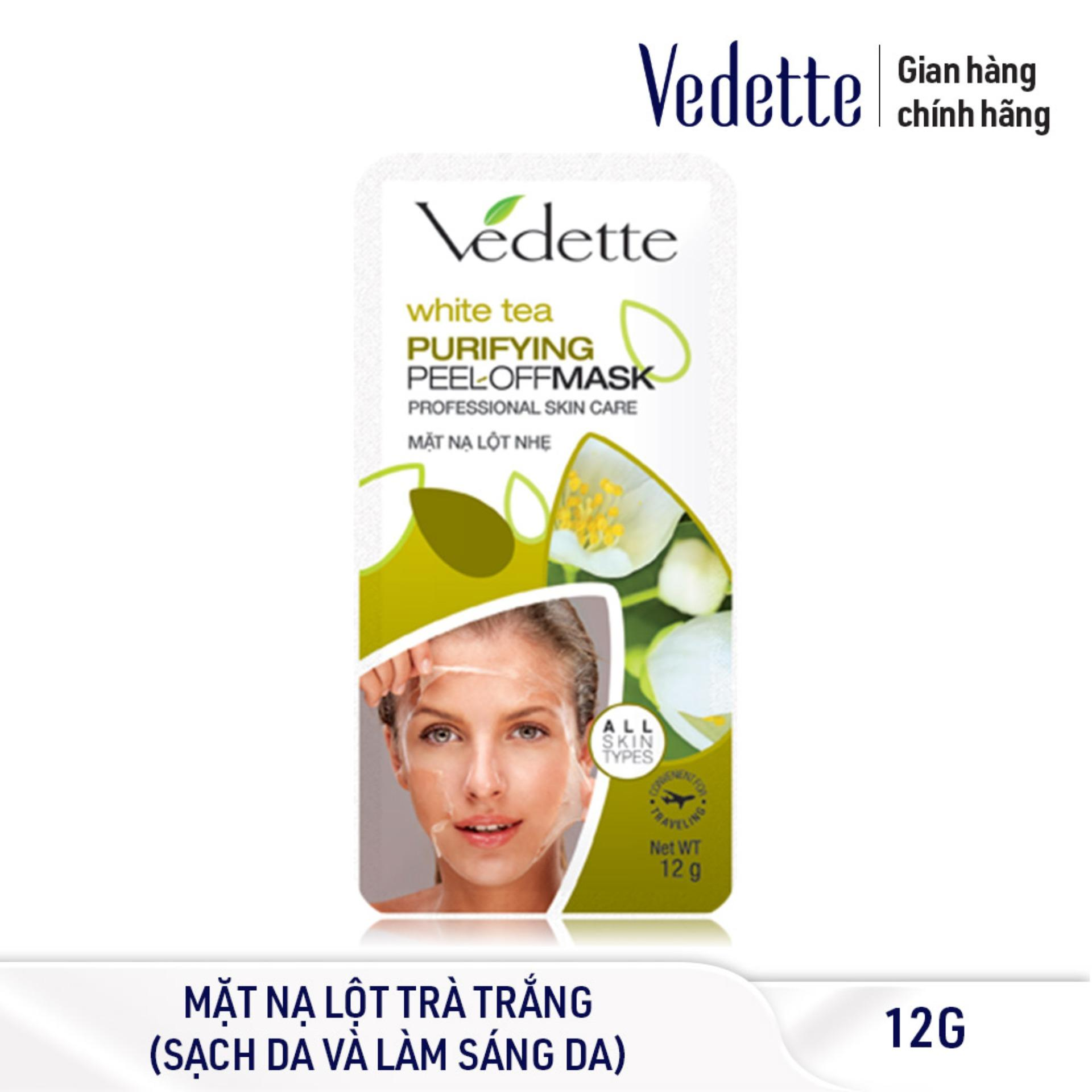 Mặt nạ lột nhẹ trà trắng Vedette Professional Skin Care - Purifying Peel-Off Mask – White tea 12g cao cấp
