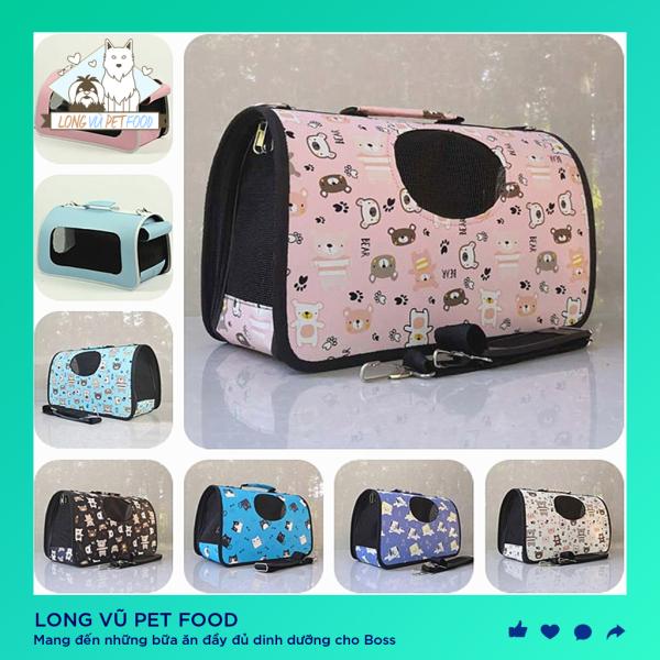Túi vận chuyển chó mèo cao cấp nhiều họa tiết 3 size cho các bé dưới 10kg giao màu ngẫu nhiên  - Balo cho chó mèo - Long Vũ Pet Food
