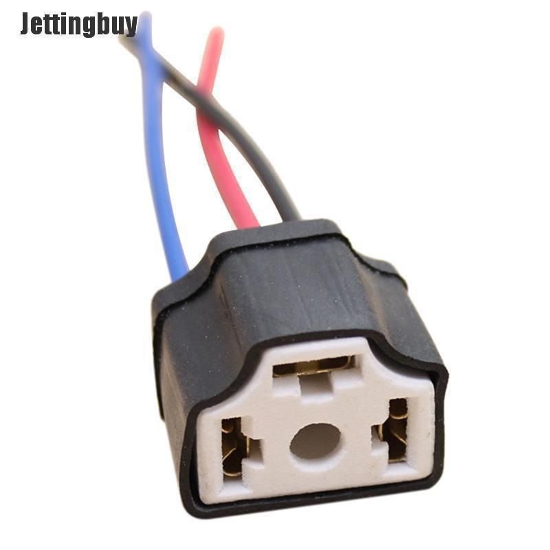 Jettingbuy Dây Gốm H4 9003 Bóng Đèn Pha Ô Tô Ổ Cắm Dây Đèn